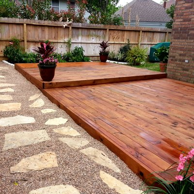 Wood deck install