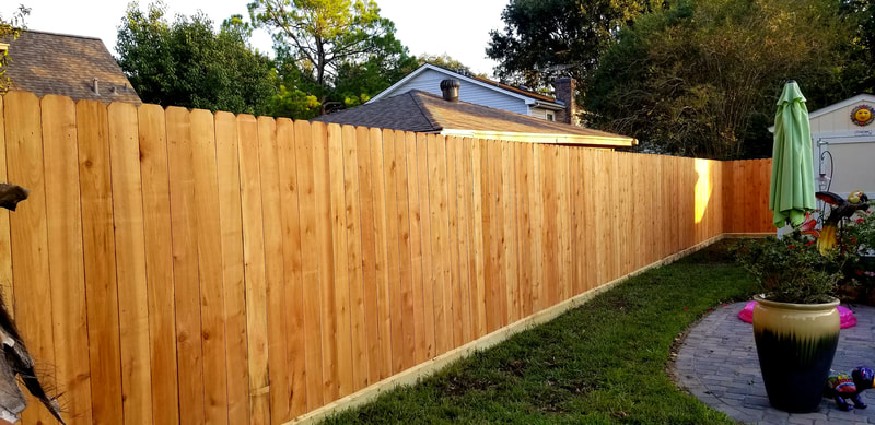 landscape and fence install